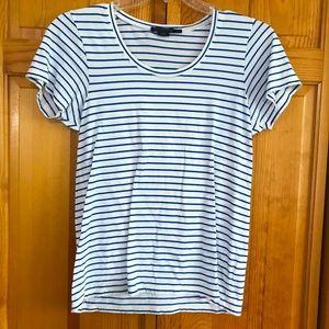 Pendleton Petite Striped Short Sleeve Tee Shirt